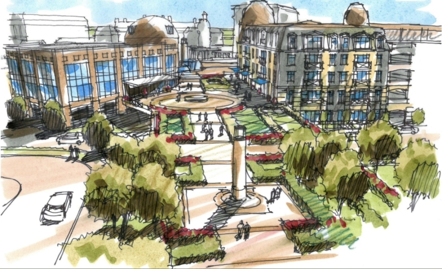 Carillon Parc is a 42.5-acre mixed-use development coming to Southlake starting in 2022. (Courtesy of Carillon Parc)