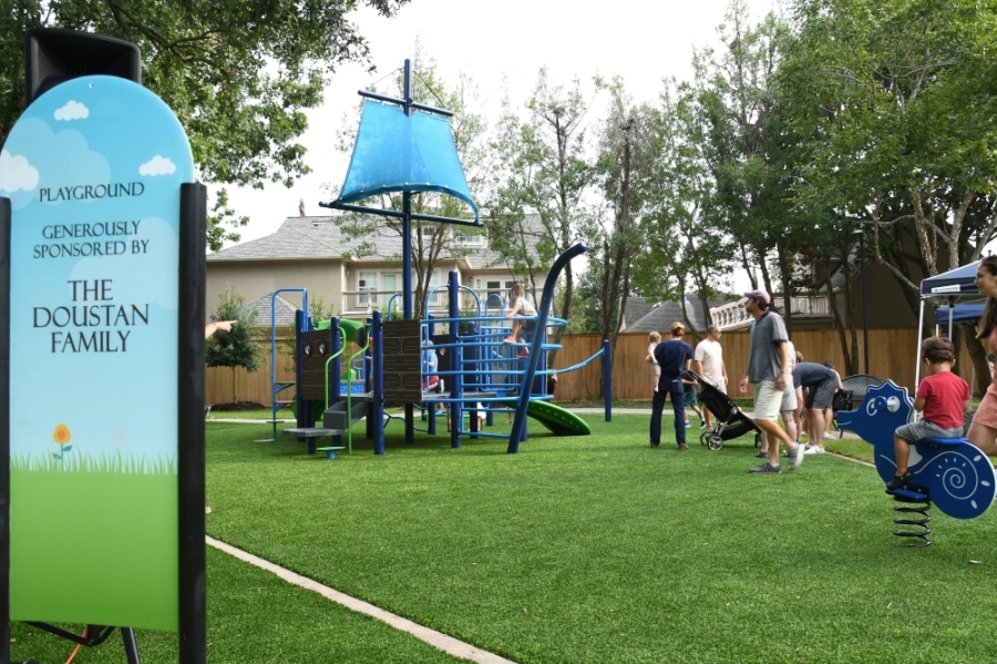Huffington Park at West University Place has reopened after a months-long renovation project. (Hunter Marrow/Community Impact Newspaper)