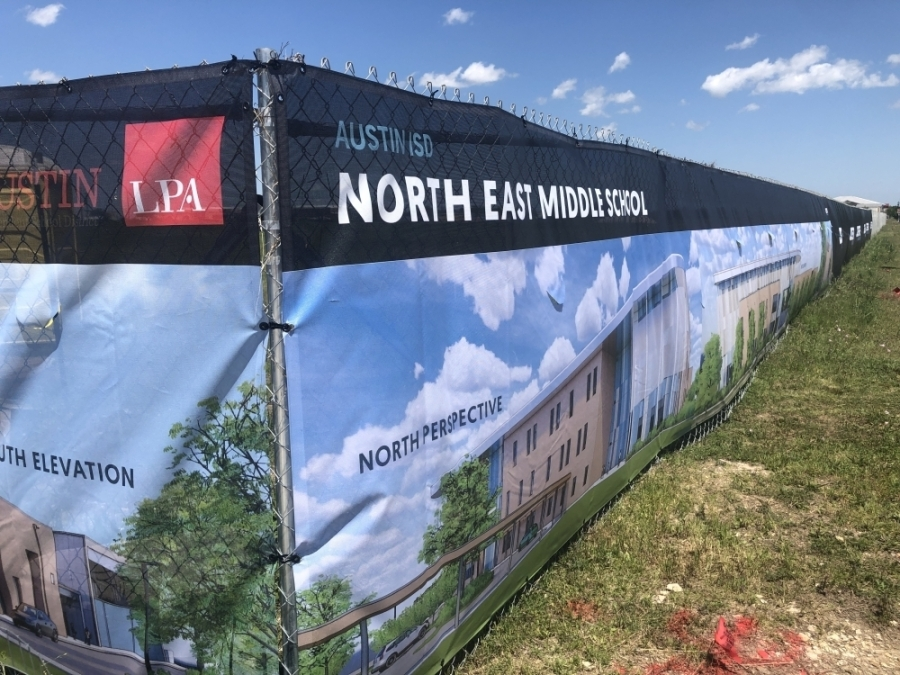 A deal with the City has allowed AISD to move forward with construction on its Northeast middle school. (Community Impact Newspaper)