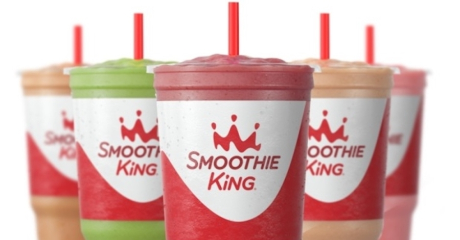 Five smoothies of various flavors.