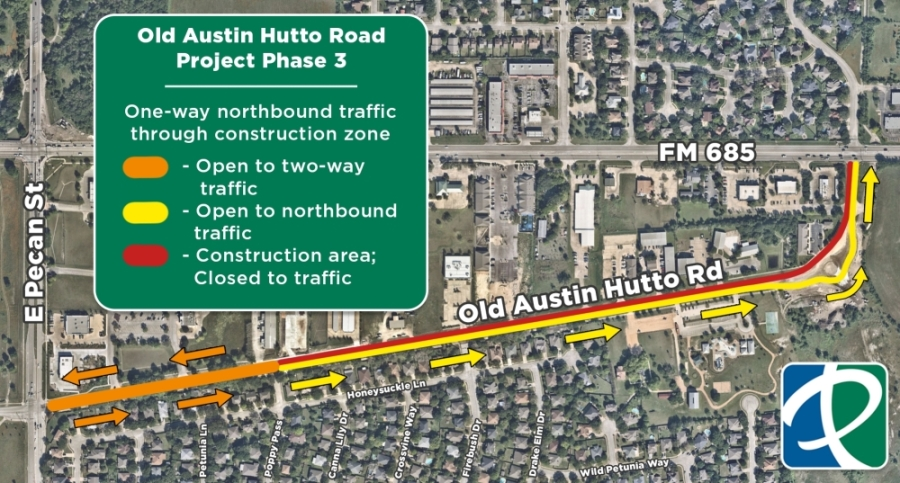 Phase 3 of the Old Austin-Hutto Road widening project begins Sept. 1. (Courtesy city of Pflugerville)