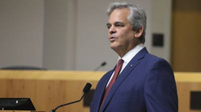 Austin Mayor Steve Adler delivered his annual State of the City address Aug. 30 at City Hall. (Ben Thompson/Community Impact Newspaper)