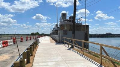 Both sides of the shared use path are now open. The Austin Transportation Department will continue to make improvements to South Pleasant Valley Road through the end of the year. (Courtesy Austin Transportation Department)