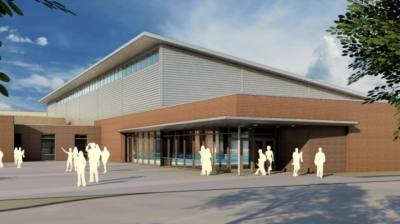 The new swimming facility's pool is expected to be a duplicate of the pool at the Bruce Eubanks Natatorium on First Street. It will open in October. (Rendering courtesy Parkhill, Smith & Cooper, Inc., Frisco ISD)