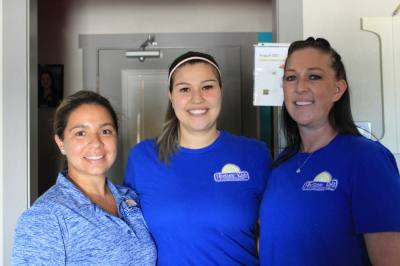 Owner Heather DeHoyos-Williams (center) runs the center with her two directors, Morgan Pence (right) and Pollyanna Brown (right). (Sandra Sadek/Community Impact Newspaper)