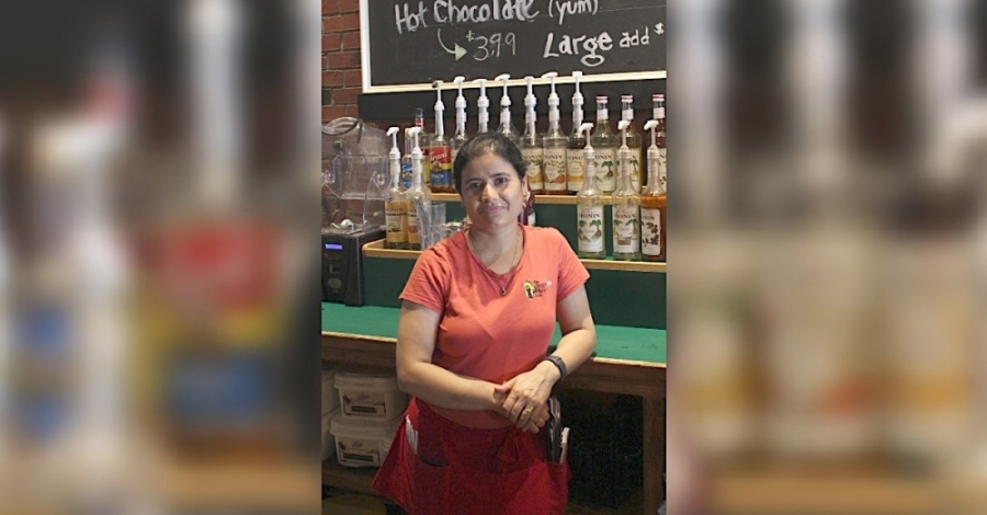 Originally from Nepal, Sumi Sinkhade and her husband, Marvin Karki, have owned the Beacon Cafe on Beach Street since 2019. (Kira Lovell/Community Impact Newspaper)