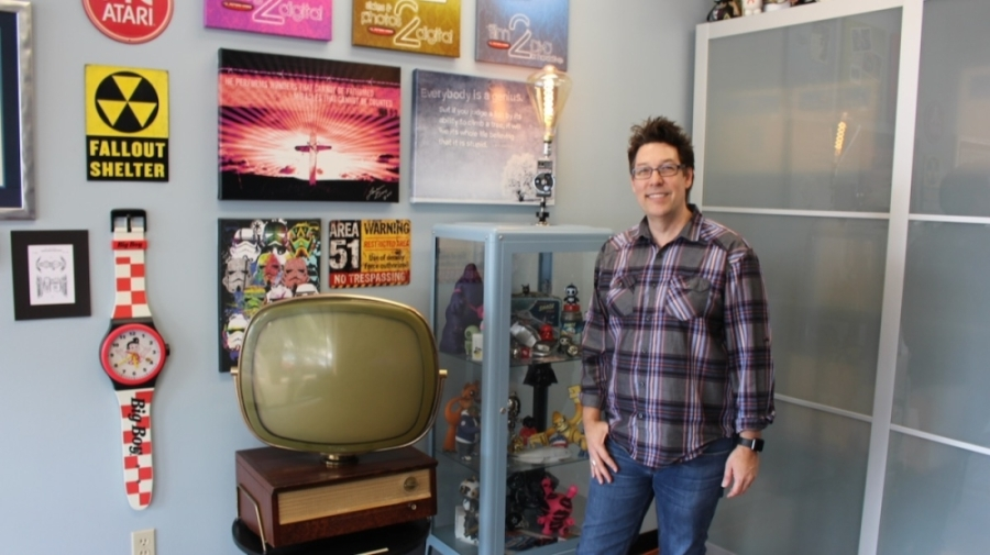 Lance Gray is the owner of Action Video Service. (William C. Wadsack/Community Impact Newspaper)