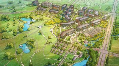 This is a 50-year master plan for the UNT at Frisco campus. (Courtesy University of North Texas)