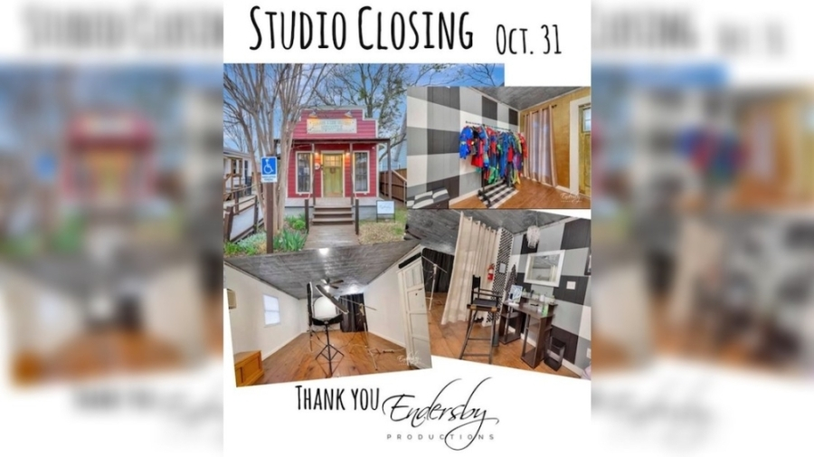 """Endersby Productions owners Nicole and Scott Endersby decided not to renew their lease at their Keller studio because it became """"a money pit."""" (Courtesy Endersby Productions)"""