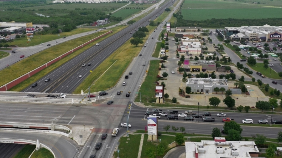 The Texas Department of Transportation will begin work on I-35 frontage road improvements near Bebee Road on Sept. 7. (Courtesy Texas Department of Transportation)
