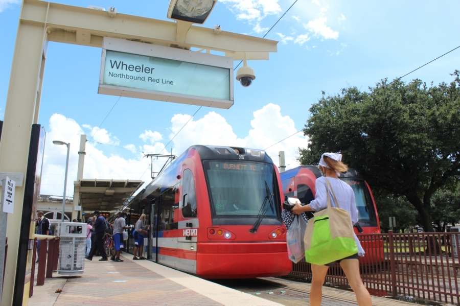The Wheeler Transit Center in Midtown sits at the heart of where several modes of transportation intersect. A planned University bus rapid transit route would link in riders from Bellaire, Uptown and Montrose areas. (Shawn Arrajj/Community Impact Newspaper)