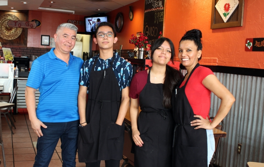 The Acosta Family, from left, Tereso, Santiago, Samantha and Maria. (Karen Chaney/Community Impact Newspaper)