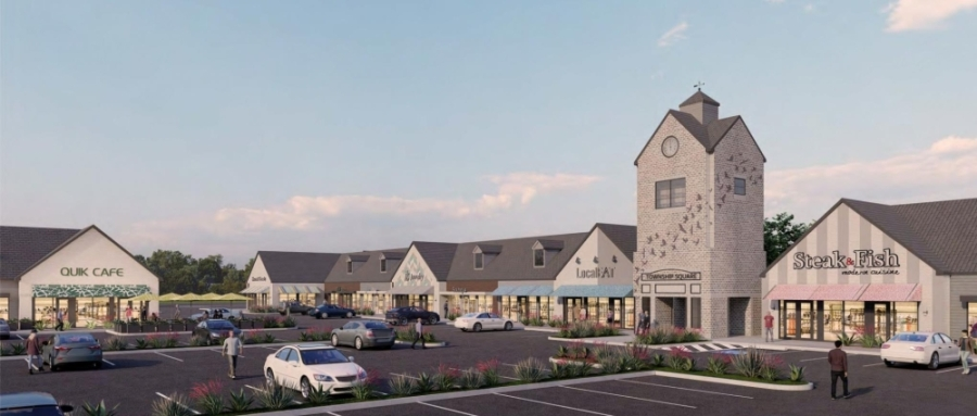 Township Square Shopping Plaza will undergo a series of renovations during a redesign spearheaded by KM Realty Investment Trust Inc. (Courtesy KM Realty)