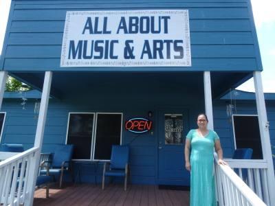Jo Ann Bigcas owns All About Music & Arts. (Emily Jaroszewski/Community Impact Newspaper)