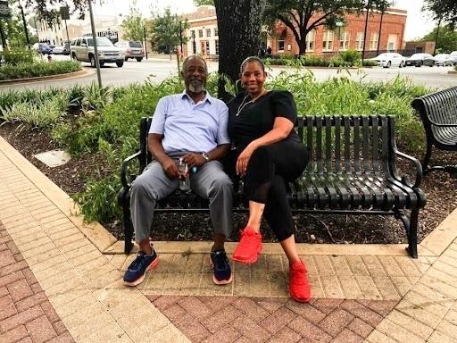 Joe Douglas Johnson and his daughter Camilia Johnson shared their memories of the Cozy Corner. (Brooke Sjoberg/Community Impact Newspaper)