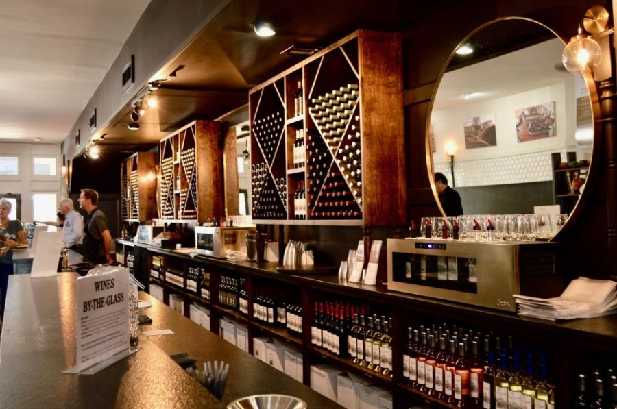 Barons Creek Vineyards wine is produced in Fredericksburg, Texas, and has locations in Georgetown and Grabury. (Taylor Girtman/Community Impact Newspaper)