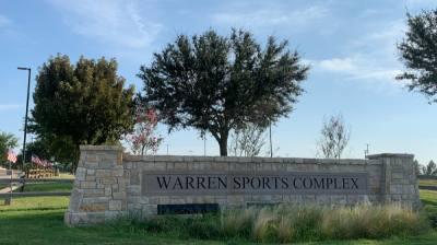 sports complex entrance sign