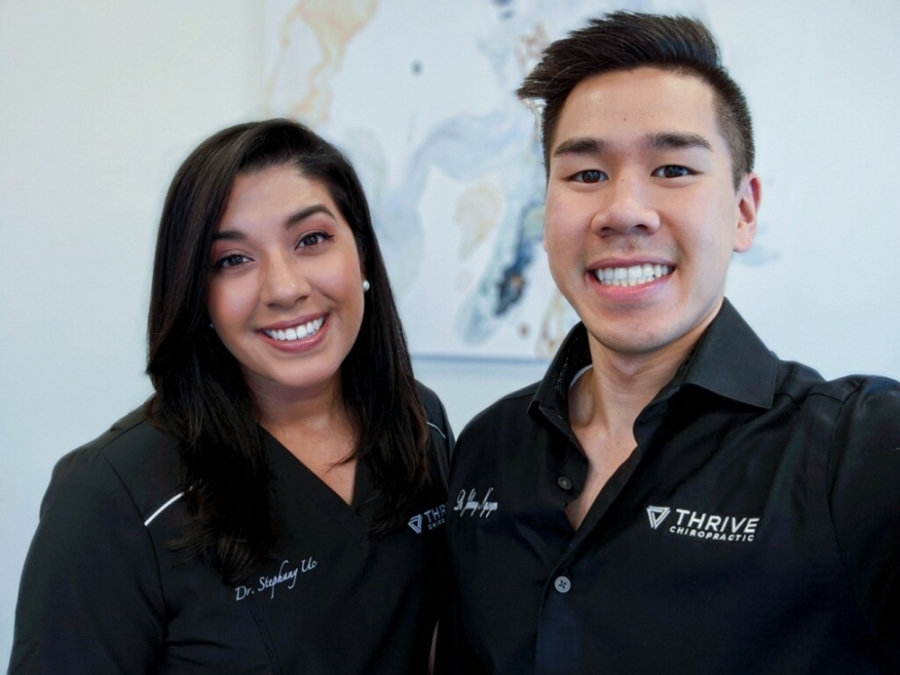 Thrive Chiropractic is home to Dr. Stephany Uc (left) and Dr. Johnny Nguyen. (Courtesy Thrive Chiropractic)