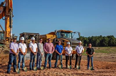 The Signorelli Co. broke ground at the Chapel Run community in Conroe on Aug. 31. (Courtesy The Signorelli Co.)