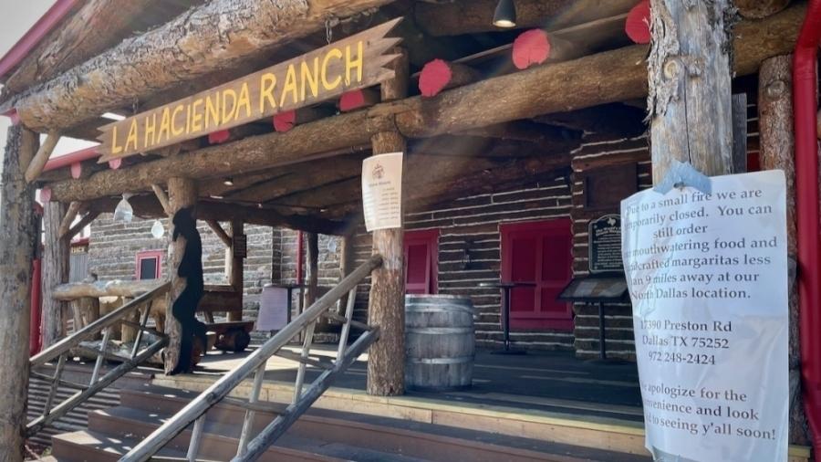 La Hacienda Ranch is closed due to a small kitchen fire at 4110 Preston Road, Frisco. (Matt Payne/Community Impact Newspaper)