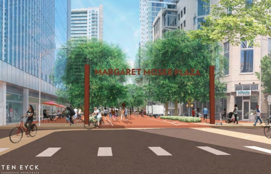 Margaret Moser would expand into a stretch that prioritizes bike and pedestrian activities. (Courtesy Shoal Creek Conservancy and Ten Eyck Landscape Architects)