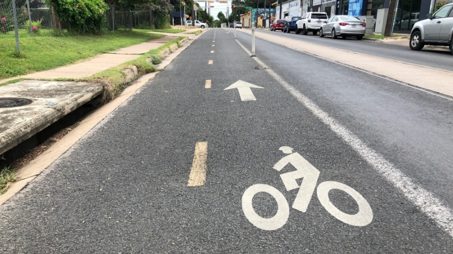 The network includes a range of path types, including protected bicycle lanes, neighborhood bikeways and urban trails. (Benton Graham/Community Impact Newspaper)