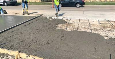 concrete pouring for roadwork