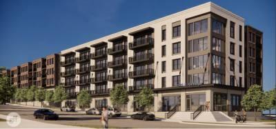 Apartment complex rendering.