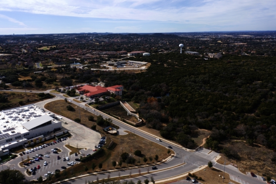 Lakeway City Council is discussing the extension of Main Street to Lohmans Crossing with both Legend Communities and Stratus Properties. Main Street currently ends at Medical Drive near the H-E-B. (Courtesy Falcon Sky Photography)