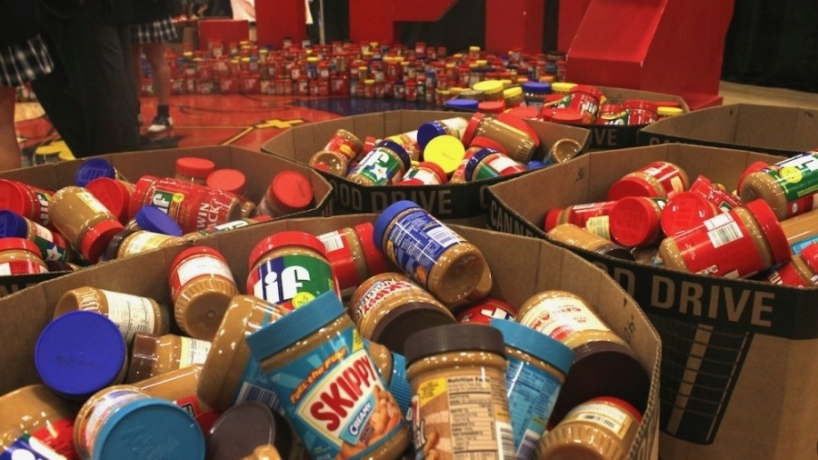 Thousands of pounds of peanut butter have been donated as part of the annual drive. (Courtesy North Texas Food Bank)
