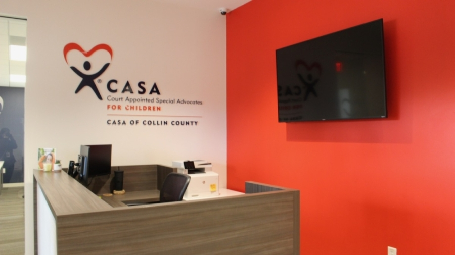 CASA of Collin County debuted its renovated facility on Davis Street in downtown McKinney on Sept. 14. (Miranda Jaimes/Community Impact Newspaper)