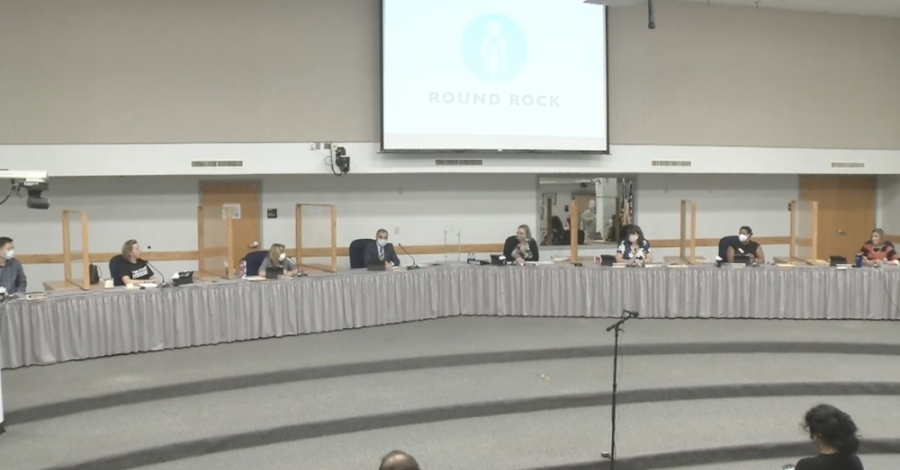 The Round Rock ISD Board of Trustees met Sept. 14 to discuss several items of interest, including a mask matrix. (Courtesy Round Rock ISD)