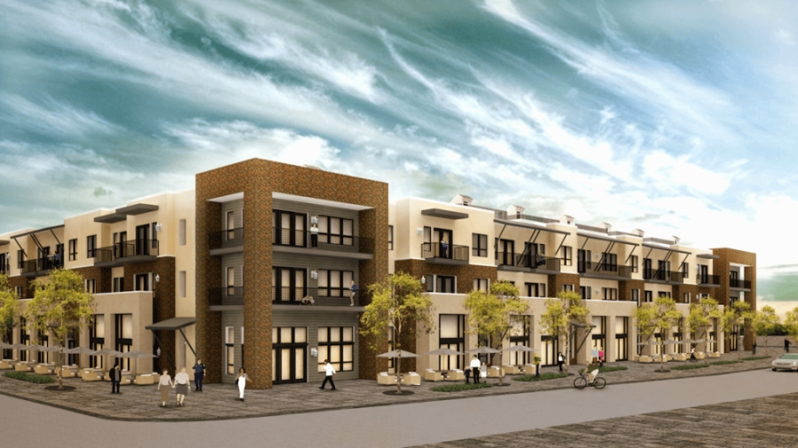 The Magnolia on Oak Street boutique apartment complex will open by Oct. 1. (Rendering courtesy Magnolia on Oak Street)