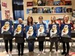 """Wine & Design Franklin offers instructor-led painting session, including themes such as """"Harry Potter."""" (Photos courtesy Wine & Design Franklin)"""