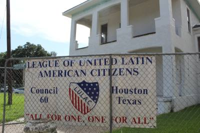 The League of United Latin American Citizens Council 60 building was once considered the organization's U.S. headquarters. (Emma Whalen/Community Impact Newspaper)