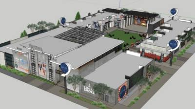 The West Grove mixed-use development will include about a 4-acre entertainment area called The Hub. (Rendering courtesy city of McKinney)