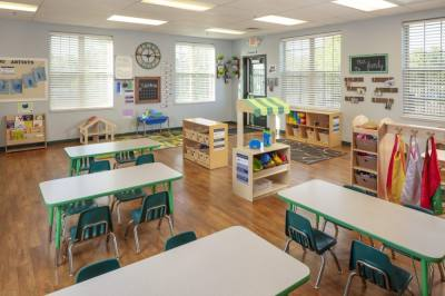 The 9,742-square-foot school will have a student capacity of 162 with nine classrooms, an indoor gym and two shaded playgrounds. (Courtesy The Goddard School)