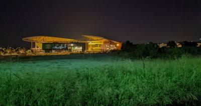 Q2 Stadium at night
