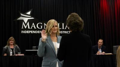 Dacia Owens was appointed to the Magnolia ISD board of trustees position No. 1 at the board's meeting Sept. 20. (Chandler France/Community Impact Newspaper)