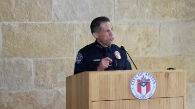 APD interim Chief Joseph Chacon was named as Austin's next police chief Sept. 22, pending City Council confirmation. (Ben Thompson/Community Impact Newspaper)