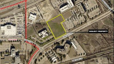 The subject property is located north of UT Dallas and the future Silver Line rail. (Courtesy city of Richardson)