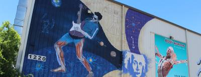The Texas Museum of Science and Technology plans to open a 50-seat planetarium in September. In June two artists painted a mural outside the temporary museum facility, which is located in a former soccer complex at 1220 Toro Grande Drive.