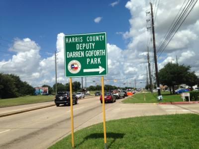 Harris County renamed Horsepen Creek Park after fallen deputy Darren Goforth.