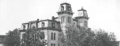 The Historic Collin County Courthouse served as the hub for downtown from 1876-1979.
