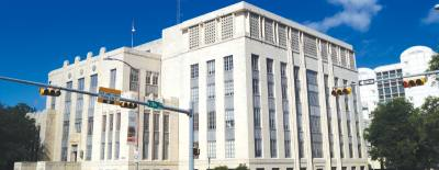 The Heman Marion Sweatt Travis County Courthouse is located on Guadalupe Street in Austin.