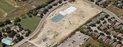 Construction continues on a new elementary school at 2800 Sauls Drive.