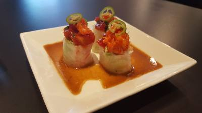 Sushi Lover offers a variety of sushi rolls, bento box with meat and fish and traditional miso soup.