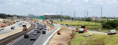 In July crews work on the Steck Avenue bypass lane that will allow drivers to avoid the intersection at MoPac on the northbound side.