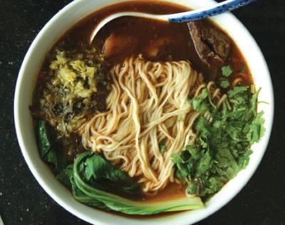 Xian Noodles serves build-your-own soup bowls.
