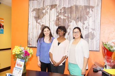 Yemi Lemma, center, opened Best in Class Education Center on Sawdust Road in August.
